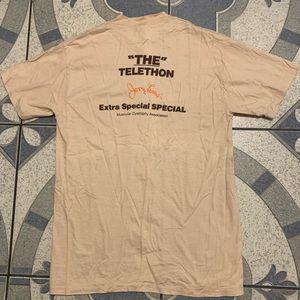 "NWOT VTG Jerry Lewis ""The Telethon"" KGTV Tee Sz L"